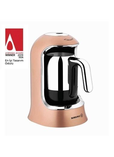 Korkmaz Kahvekolik Rosagold/Krom Otomatik Kahve Makinesi Altın